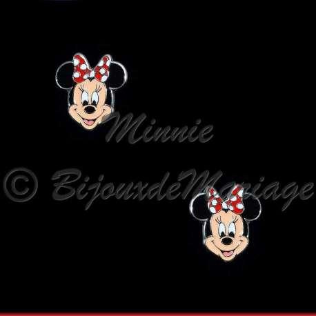 Boucles d'oreilles MINNIE, argentées pour enfant