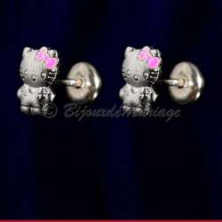 Kitty, boucles d'oreilles 925, silhouette