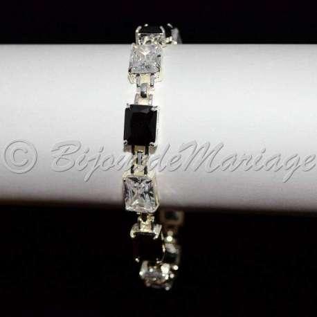 Bracelet mariage, Cubic Zirconium (CZ), ton argent