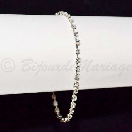 Bracelet mariage 1 rang, petit modèle très fin