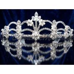 Diadème mariage Exception, cristal et perles