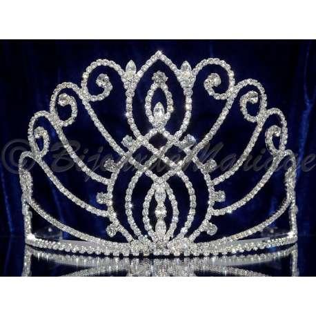 Diademe Miss VENDÔME 2, cristal, structure ton argent